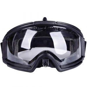 BESPORTBLE Airsoft Goggle 1 BESPORTBLE Protective Safety Goggle Anti-Fog Anti-Spitting Anti-Saliva Goggles Eyewear Eyeshield Safety Glasses -Black