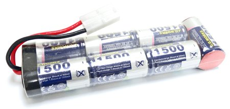 JG Airsoft Battery 1 J.G. Works Airsoft 8.4V 1500mAh Large Type Battery