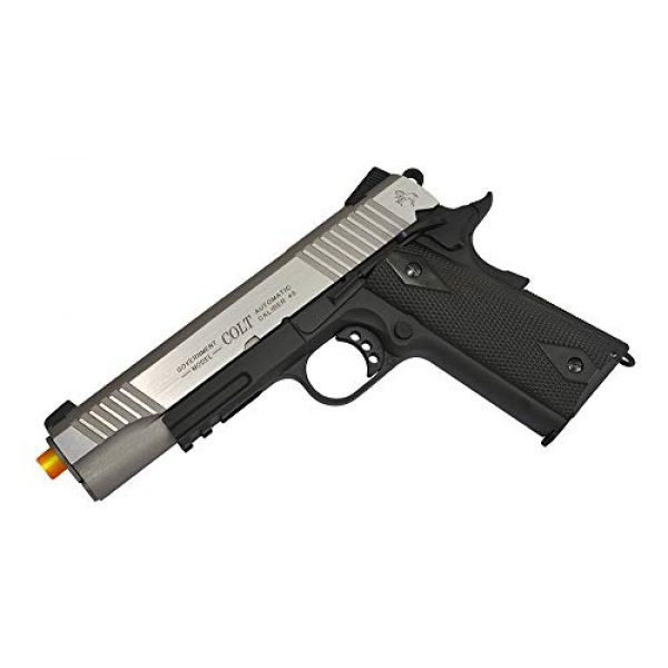 KWC Airsoft Pistol 3 Colt 1911 CO2 Full Metal Airsoft Pistol with Hop-Up, 360 FPS, Two-Tone