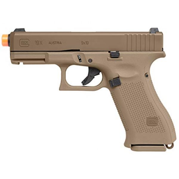 Umarex Airsoft Pistol 4 Umarex Glock 19X GBB Blowback 6mm BB Pistol Airsoft Gun, Glock 19X Airsoft Gun (2276328)