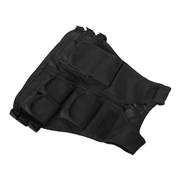 VGEBY Airsoft Tactical Vest 6 Tactical Vest, Adjustable Breathable Lightweight Combat Training Vest Outdoor Hunting, Fishing, Army Fans, CS War Game, Survival Game, Combat Training