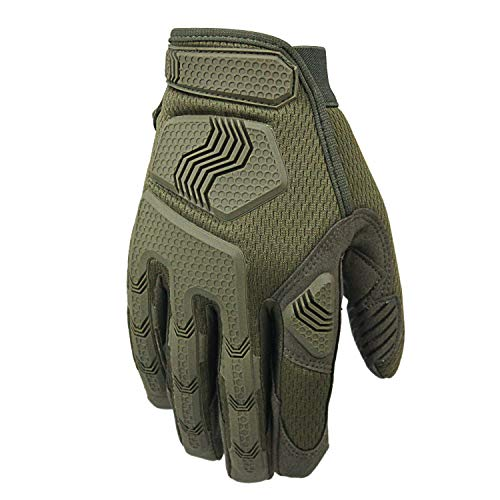 Fuyuanda Airsoft Glove 6 Rubber Protective Guard Full Finger Gloves for Outdoor Cycling Motorbike