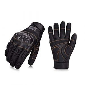 Vgo... Airsoft Glove 1 Vgo... Goat Leather Premium Full Finger Motorcycle Gloves Ideal for Cycling