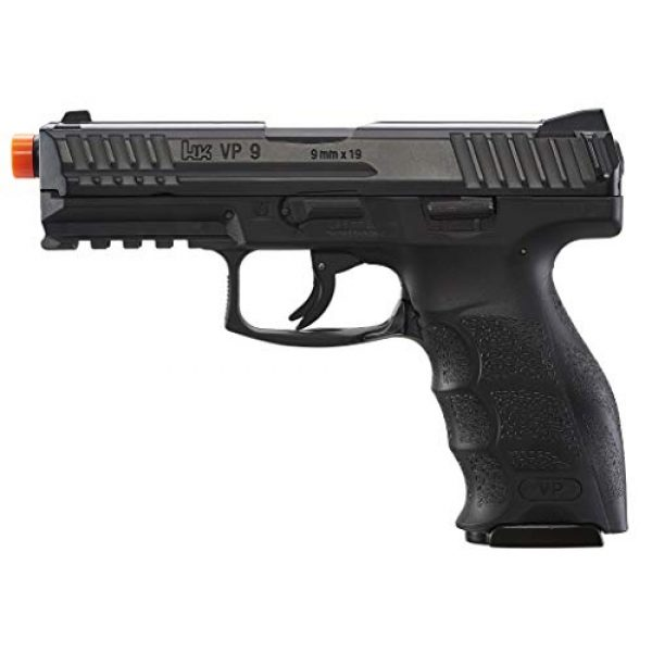 Umarex Airsoft Pistol 3 Umarex H&K VP9 Co2 - BLK Airsoft Pistol with Included 5x12 Gram CO2 Tanks and Wearable4U Pack of 1000 6mm 0.20g BBS Bundle