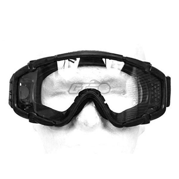 Emerson Airsoft Goggle 2 Emerson SI Ballistic Goggles For Helmet w/ Fan Version (BLK)