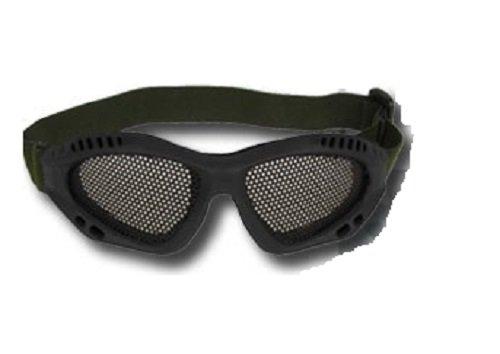 Prima USA Airsoft Goggle 1 Airsoft Adjustable Mesh Wire Goggles Black