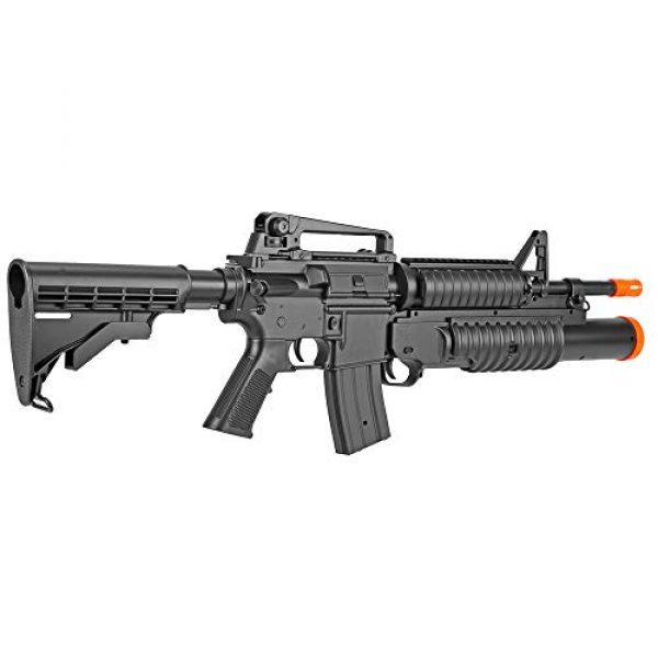 BBTac Airsoft Rifle 4 BBTac Airsoft Gun Electric Rifle Full Auto with Burst 3 Round Launcher, Rail System, Powerful AEG Shoot 6mm BBS