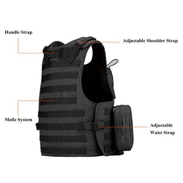 ArcEnCiel Airsoft Tactical Vest 5 ArcEnCiel Tactical Molle Vest, Black