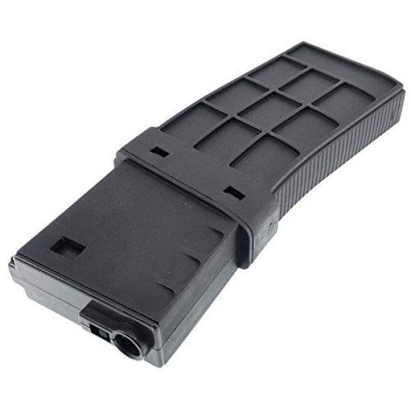 SportPro Airsoft Gun Magazine 5 SportPro CYMA 220 Round Polymer Thermold Waffle Medium Capacity Magazine for AEG M4 M16 Airsoft - Black