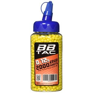 BBTac Airsoft BB 1 BBTac Airsoft BBs .12g Ammo 6mm (2000 Round Bottle, Yellow)