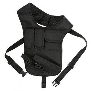 JSVDE Airsoft Gun Case 1 JSVDE Men's Shoulder Tactical Bag Concealed Carry Holster Waistband Airsoft Pistol Waterproof Nylon Stealth Tactical Accessory Bag