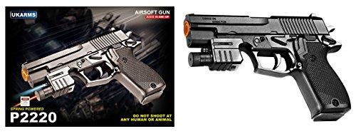 UKARMS Airsoft Pistol 1 UKARMS M1911 P2220 Spring Airsoft Pistol & Flashlight