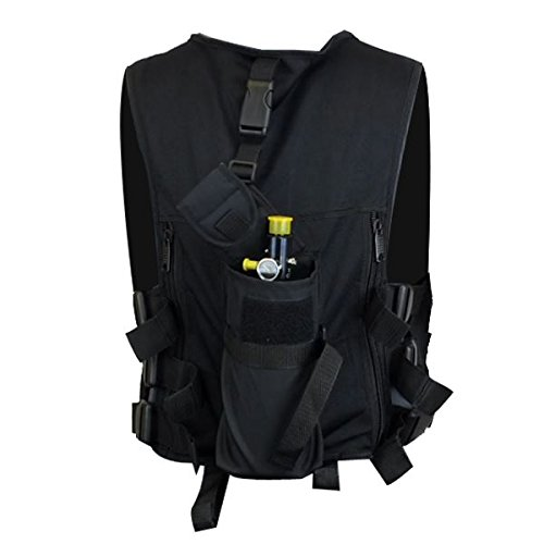 Maddog  5 Maddog Lightweight Tactical Paintball Sport Vest | Holds 4 Pods & Tank Up to 90ci