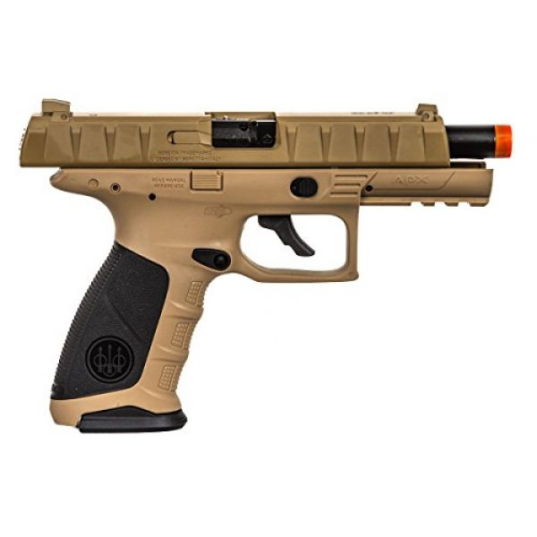 Elite Force Airsoft Pistol 6 Elite Force Beretta APX CO2 Blowback Pistol Airsoft Gun (FDE)