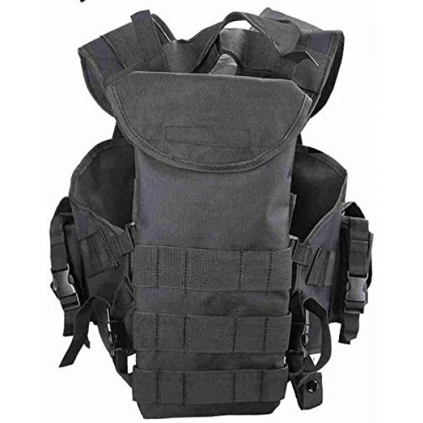 Tactical Area Airsoft Tactical Vest 2 Outdoor Sealed Tactical Vest with Removable Water Bag, Airsoft Paintball, Combat Combat, Commando CS Field Equipment.