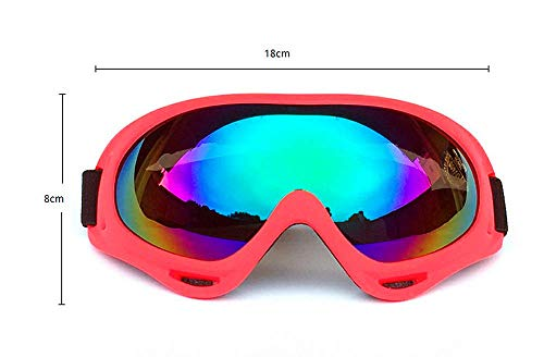 DPLUS Airsoft Goggle 2 DPLUS Motorcycle Goggles ATV Dirt Bike Off Road Racing MX Goggle Anti-Dust Bendable Eyewear with Padded Soft Foam