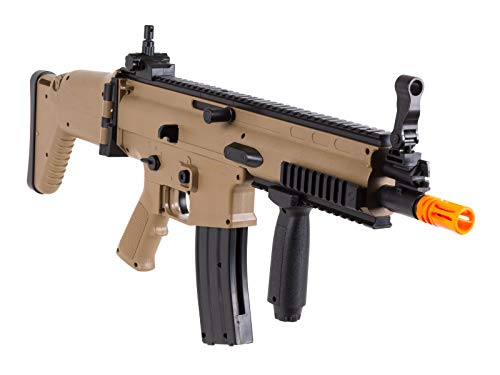 FN Airsoft Rifle 2 FN Scar-L Spring Powered Airsoft Rifle, Tan, 300 FPS