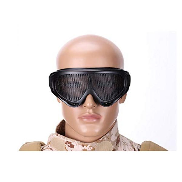 Sunny Airsoft Goggle 5 Outdoor Sports Airsoft Hunting Protention Gear Tactical Shooting X400 Metal Steel Wire Mesh Goggles