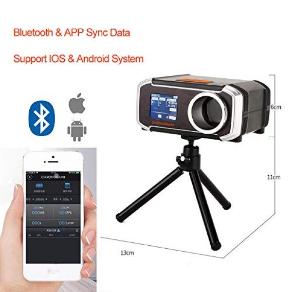 ActionUnion Airsoft Tool 2 ActionUnion Bluetooth Airsoft Shooting Chronograph Digital Gun BBS Speed Tester Measuring with Tripod LCD Screen Display USB Charging Support Mobile Phone APP Hunting Tactical New!
