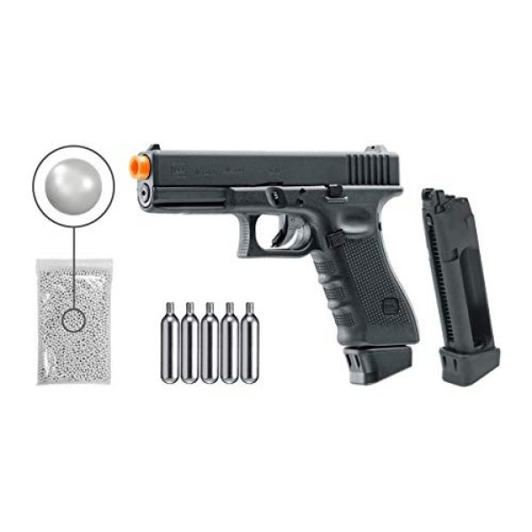 Umarex Airsoft Pistol 1 Wearable4U Umarex Glock G17 Gen4 C02 Blowback - BLK Airsoft Pistol with Included 5x12 Gram CO2 Tanks and Extra Mag Kit Pack of 1000 6mm 0.20g BBS Bundle