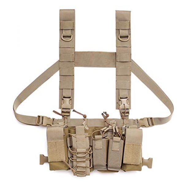 Coherny Airsoft Tactical Vest 3 Coherny Men Women Tactical Chest Rig Bag Radio Harness Chest Front Pack Pouch Holster Military Vest Chest Rig Bag Adjustable Two Way Radio Pocket Waist Pack