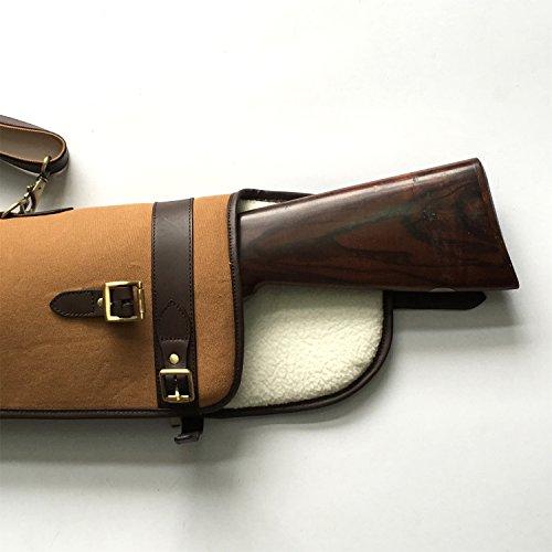 "TOURBON  4 TOURBON Vintage Hunting Gun Carrying Bag Slip Shotgun Case 50"" - Canvas and Leather"
