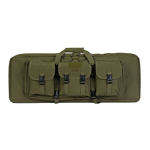 "Lancer Tactical Airsoft Gun Case 1 Lancer Tactical 36"" Padded Double Tactical Airsoft Bag w/Lockable Zipper CA-982"
