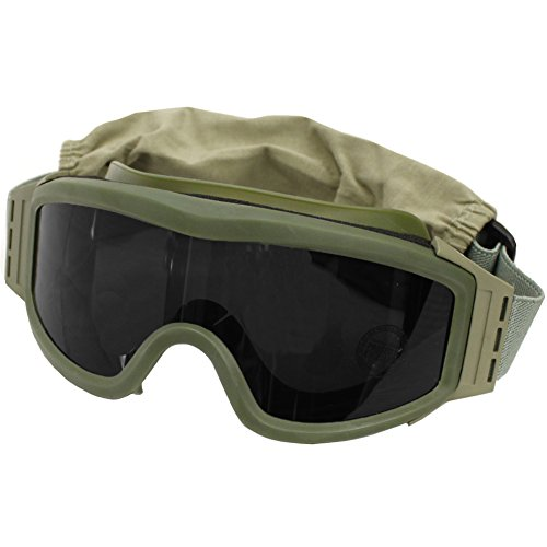 Lancer Tactical Airsoft Goggle 2 Lancer Tactical CA-203G Safety Airsoft Goggles w/Interchangeable Multi Lens Kit (OD Green)