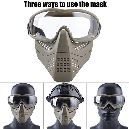 Tactical Glasses with Detachable Mask for Nerf Game CS Hunting Paintball Shooting Cycling Halloween