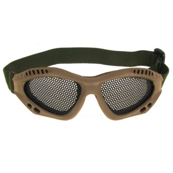 PForce Airsoft Goggle 1 Airsoft Adjustable Mesh Wire Goggles - Tan