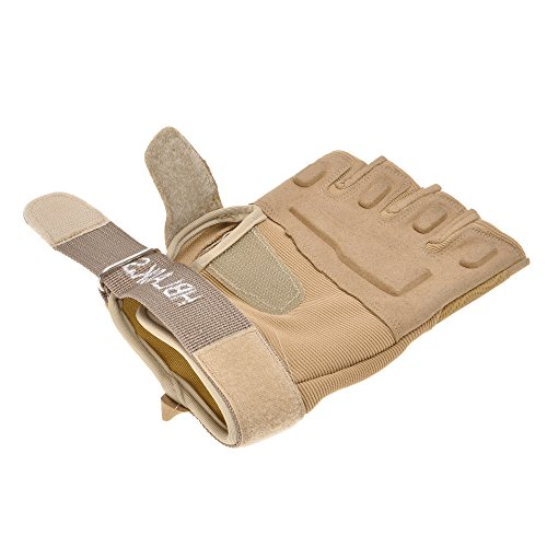 ZLYC Airsoft Glove 4 ZLYC Men's Fitness Gloves Wrist Wrap Support Half Finger Tactical Gym Glove