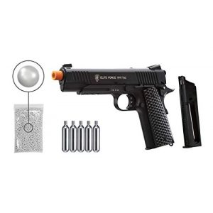 Wearable4U Airsoft Pistol 1 Wearable4U Umarex Elite Force 1911 TAC Gen3 Airsoft Pistol with Included 5x12 Gram CO2 Tanks Pack of 1000 6mm 0.20g BBS Bundle