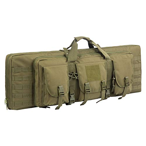Fox Tactical Airsoft Gun Case 1 Fox Tactical 38 42 Inch Double Long Rifle Gun Case Bag Outdoor Tactical Carbine Cases Water Dust Resistant Fireproof for Hunting Shooting (O.D.Green