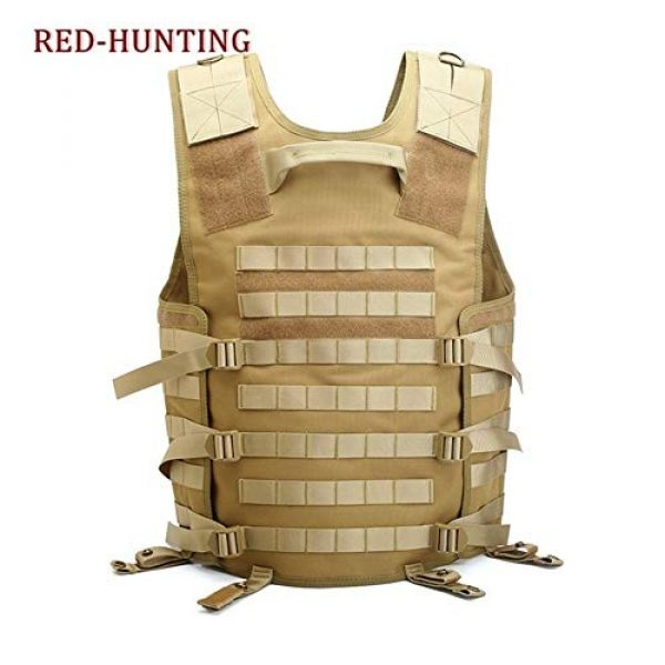 Shefure Airsoft Tactical Vest 6 Shefure Men's Molle Tactical Vest Hunting Gear Load Carrier Vest Sport Safety Vest Hunting Fishing with Hydration System