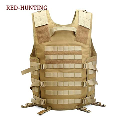 Shefure  6 Shefure Men's Molle Tactical Vest Hunting Gear Load Carrier Vest Sport Safety Vest Hunting Fishing with Hydration System