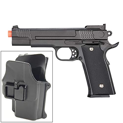 UKARMS Airsoft Pistol 1 UKARMS Galaxy G20H Full Metal M945 Airsoft Spring Hand Gun with Quick Release Holster