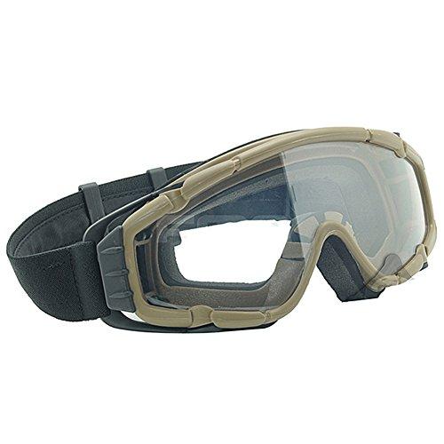 ATAIRSOFT Airsoft Goggle 2 ATAIRSOFT Wind-Shield Protective Airsoft Ski Bike Goggles Mini Fan System
