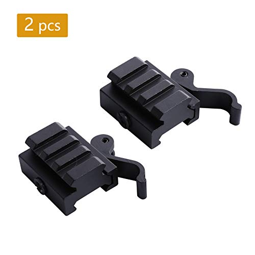 Pinty Airsoft Tool 1 Pinty Medium Profile Picatinny Riser Mount with QD Quick Release