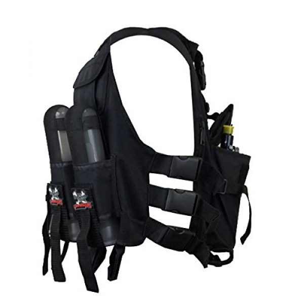 Maddog Airsoft Tactical Vest 4 Maddog Lightweight Tactical Paintball Sport Vest | Holds 4 Pods & Tank Up to 90ci