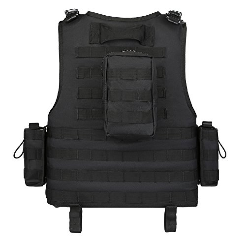GZ XINXING Airsoft Tactical Vest 4 GZ XINXING Black Tactical Airsoft Paintball Vest