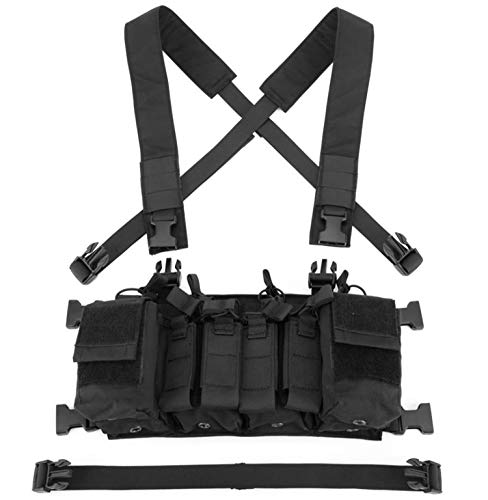 Jadedragon  5 Jadedragon Tactical Chest Vest with Drop Pouch Sub Abdominal Carrying Kit Bag and Multi-Pockets for Airsoft Shooting Wargame Paintball