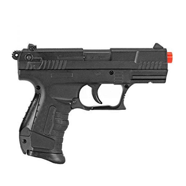 BBTac Airsoft Pistol 4 BBTac Airsoft Pistol - Metal Slide Airsoft Gun Spring Powered 240 FPS, Metal Alloy Construction (Black)