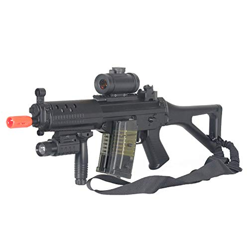 BBTac  1 BBTac Double Eagle Airsoft Gun AEG Electric Rifle Full Auto Great Starter with Premium Airsoft Carrying Sling