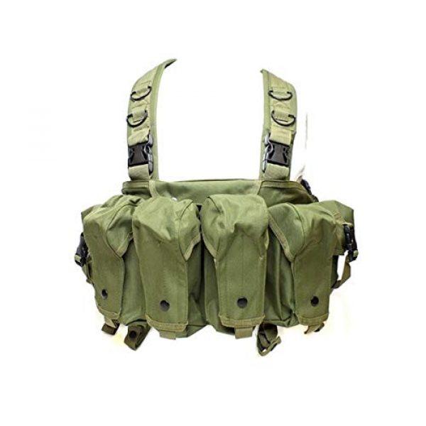 Vioaplem Airsoft Tactical Vest 1 Vioaplem CQC AK Chest Rig Molle Tactical Vest Military Army Equipment AK 47 Magazine Pouch Outdoor Airsoft Paintball Hunting Vest (Color : OD)