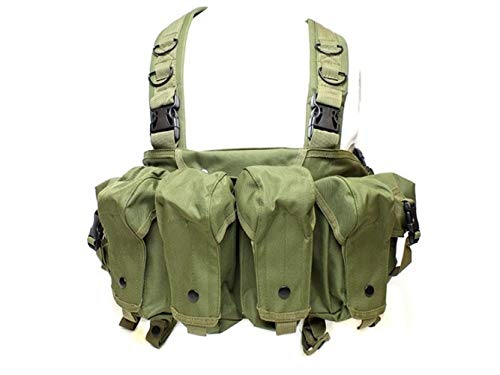 Vioaplem Airsoft Tactical Vest 1 Vioaplem CQC AK Chest Rig Molle Tactical Vest Military Army Equipment AK 47 Magazine Pouch Outdoor Airsoft Paintball Hunting Vest (Color : OD)