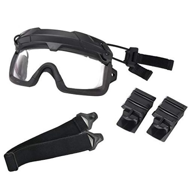 Jadedragon Airsoft Goggle 7 Airsoft Goggles Tactical Safety Goggles Impact Resistance Hunting Eyewear with Dual Mode Wearing methodfor Paintball Riding Shooting Hunting