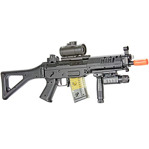 BBTac Airsoft Rifle 1 BBTac Airsoft Gun AEG Electric Gun Rifle Full Auto Package with Battery and Charger
