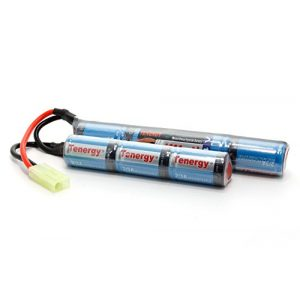 Tenergy Airsoft Battery 1 Tenergy 8.4V Airsoft Battery 1600mAh NiMH Nunchuck Battery w/Mini Tamiya Connector High Discharge Rate Stick Shape Butterfly Battery for Airsoft Gun M4 Rifles