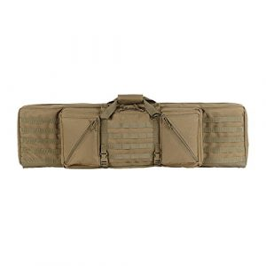 "VooDoo Tactical Airsoft Gun Case 1 VOODOO TACTICAL 20-1222 45"" Frontline Double-Rifle Lockable Padded Weapons Case"