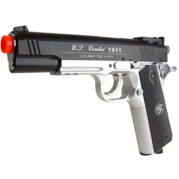 WG Airsoft Pistol 1 500 FPS NEW WG AIRSOFT FULL METAL M 1911 GAS CO2 HAND GUN PISTOL w/ 6mm BB BBs,Heavy Weight Realistic 1:1 Scale